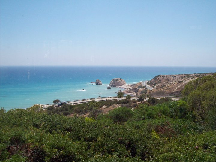 View from restaurant above Aphrodite Rock