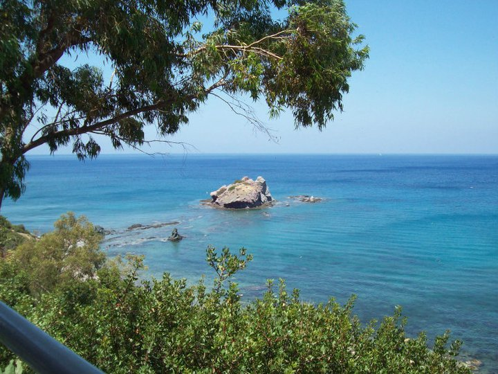 View from restaurant at Baths of Aphrodite